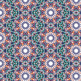 Kaleidoscopic tile seamless pattern royalty free stock photography
