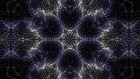 Kaleidoscopic Video Background. Colorful kaleidoscopic patterns, fractal animation. Motion design animation vector illustration