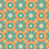 Kaleidoscopic wallpaper seamless pattern stock images