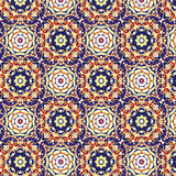 Kaleidoscopic wallpaper seamless pattern stock image
