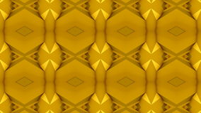 Kaleidoscopic Yellow Gold Abstract Loop stock video footage