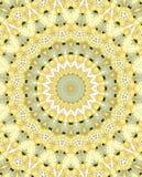 Kaleidoscopic yellow pattern ornamental Royalty Free Stock Photos
