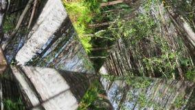 Kaleidoskop, das oben bei 45 Grad verschiebt stock video