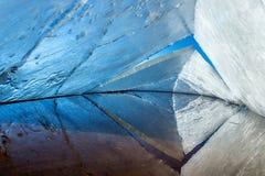 Kaleidoskop Der abstrakte Hintergrund der Eisstruktur Lizenzfreies Stockfoto