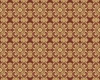 Kaleidoskop-Goldnahtloses Muster für Ihr Desing Lizenzfreies Stockbild