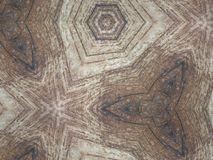 Kaleidoskop-hölzerner Muster-Hintergrund Lizenzfreie Stockfotos
