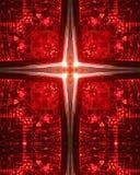 Kaleidoskop-Kreuz: Autorücklicht Lizenzfreies Stockfoto