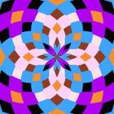 Kaleidoskop nahtlos Geometrischer Musterhintergrund lizenzfreie stockbilder