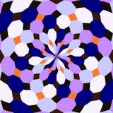 Kaleidoskop nahtlos Geometrischer Musterhintergrund stockbilder