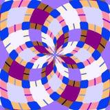 Kaleidoskop nahtlos Geometrischer Musterhintergrund lizenzfreie stockfotos