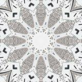 Kaleidoskop strass Diamantmuster-Zusammenfassungshintergrund Weißer Kaleidoskopuhrmusterzusammenfassung Fractalhintergrund Abstra lizenzfreie abbildung