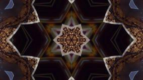 Kaleidoskop von Kaffeebohnen Schokoladenhintergrund für Disco, Festival, Entwurf stock abbildung