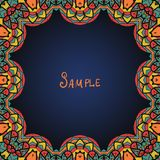 Kaleidoskopic frame. Ornate frame with  paisley Stock Photography