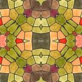Kaleidoskopische Fliesen des Bildmosaiks stockbild