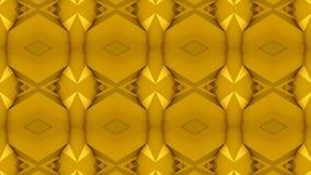 Kaleidoskopische gelbes Goldzusammenfassungs-Schleife stock video footage