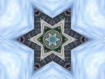 Kaleidoskopische Illustration von Stahlkonstruktionen und von Gebäuden stock abbildung