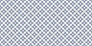 Kaleidoskopische Musterfliese der blauen dekorativen Technologie stock abbildung