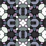 Kaleidoskopische nahtlose abstrakte Mandalamehrfarbenbeschaffenheit stockfotos