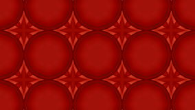 Kaleidoskopische rote abstrakte Schleife stock video