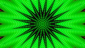 Kaleidoskopischer Effekt von grünen Rohren lizenzfreie stockfotos