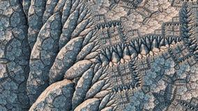 Kaleidoskopischer IFS-Fractal stockbild