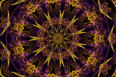 Kaleidoskopischer Stern Stockfoto