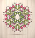 Kaleidoskopisches Frühlingsmuster der dekorativen runden Blumenspitzes, Mandala Lizenzfreie Stockbilder
