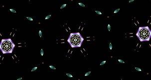 Kaleidoskopisches Muster auf dunklem Hintergrund in den vibrierenden Farben Lizenzfreie Stockbilder