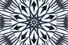 Kaleidoskopmuster-Zusammenfassungshintergrund Architektur zeichnet Muster Architektonischer abstrakter Fractalkaleidoskophintergr lizenzfreie abbildung