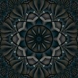 Kaleidoskopmuster-Zusammenfassungshintergrund Rundes Muster Architektonischer abstrakter Fractalkaleidoskophintergrund Abstrakte  vektor abbildung