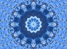 Kaleidoskopmuster-Zusammenfassungshintergrund Rundes Muster Architektonischer abstrakter Fractalkaleidoskophintergrund Abstrakter stock abbildung
