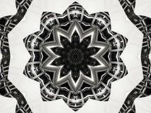 Kaleidoskopmuster-Zusammenfassungshintergrund Rundes Muster Architektonischer abstrakter Fractalkaleidoskophintergrund Abstrakter vektor abbildung