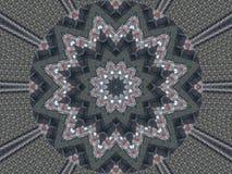 Kaleidoskopmuster-Zusammenfassungshintergrund Rundes Muster Architektonischer abstrakter Fractalkaleidoskophintergrund Abstrakter lizenzfreie abbildung