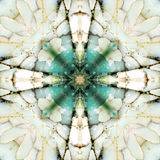Kaleidoskopquadrat: Feuersteinschichten, Oregon-Küste Stockfotografie
