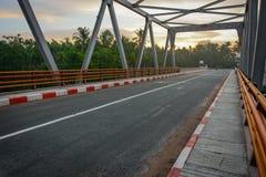 Kaleinaung Bridge in the morning time, Tanintharyi Region, southern Myanmar, April-2017 stock images