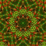 Kalejdoskopów czerwoni zieleni kolory ilustracji