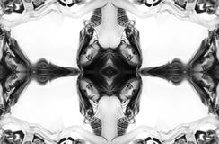 kalejdoskop Abstrakcjonistyczny montaż czarno biały portret na wh Zdjęcie Stock