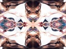 kalejdoskop Abstrakcjonistyczny montaż piękna młoda kobieta na białym tle Zdjęcia Royalty Free