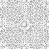 Kalejdoskop för damast sömlös för papper 3D för vektor rund för konst för modell spiral för bakgrund 038 Arkivbild