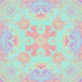 Kalejdoskop f?r symmetri f?r tappningmodell abstrakt dekorativt royaltyfri illustrationer