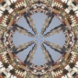 Kalejdoskop fyrkant, textur, modell, symmetri, bakgrund, abstrakt begrepp, tapet, abstraktion, texturerat, upprepande som är geom Royaltyfria Foton