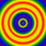 Kalejdoskop Splat, barwiony wibrujący neonowy fractal okręgu motyw, mithical wszystkowidzący oko Zdjęcia Royalty Free