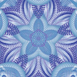 Kalejdoskopisk blåttmodell Royaltyfri Foto