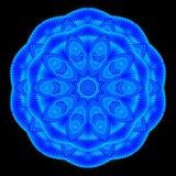 Kalejdoskopisk blåttmodell, mandala Royaltyfri Bild