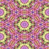 Kalejdoskopisk flerfärgad sömlös abstrakt mandalatextur royaltyfri illustrationer
