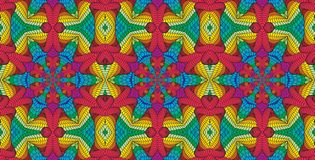 Kalejdoskopisk flerfärgad sömlös modell Royaltyfria Foton
