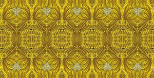 Kalejdoskopisk guld- modell Royaltyfri Fotografi