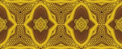 Kalejdoskopisk guld- sömlös modell Fotografering för Bildbyråer