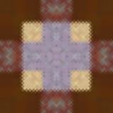 Kalejdoskopisk låg poly mosaik för rombstilvektor Arkivbild