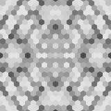 Kalejdoskopisk låg poly mosaik för sexhörningsstilvektor Royaltyfri Bild